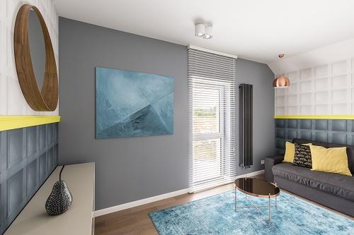 intérieur avec un tapis de luxe
